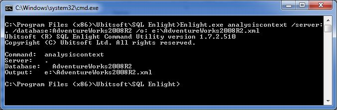 Generate Analysis Context with SQL Enlight command line tool.